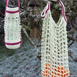 Crochet bag and bottle