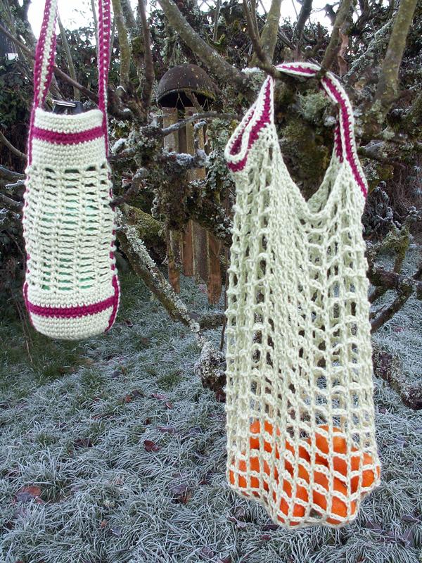 Crochet bag and bottle holder