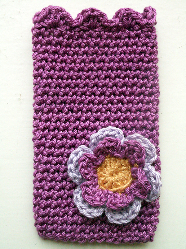 Purple ipod Cover with Flower