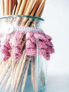 Crochet jar collar