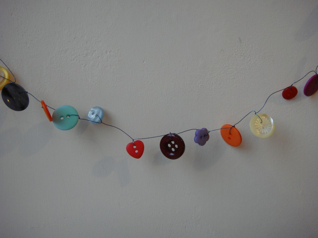 hanging button garland