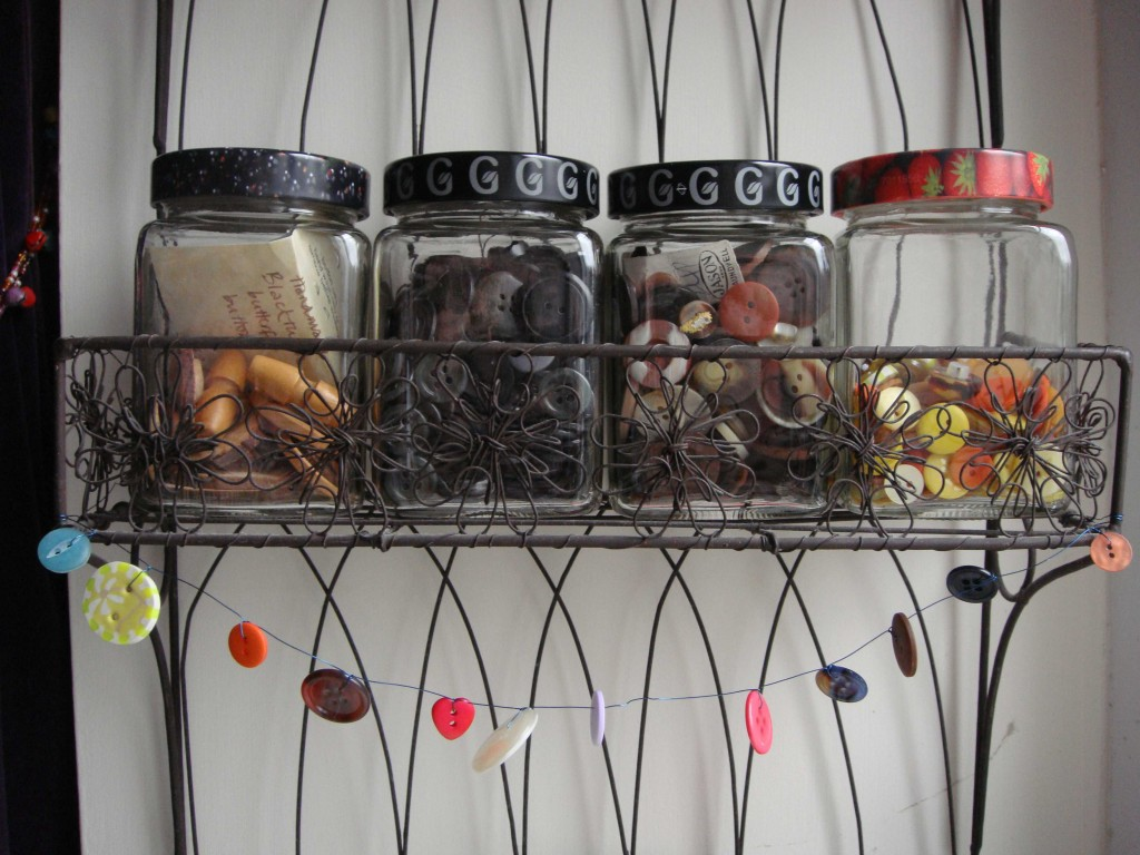 button and wire garland