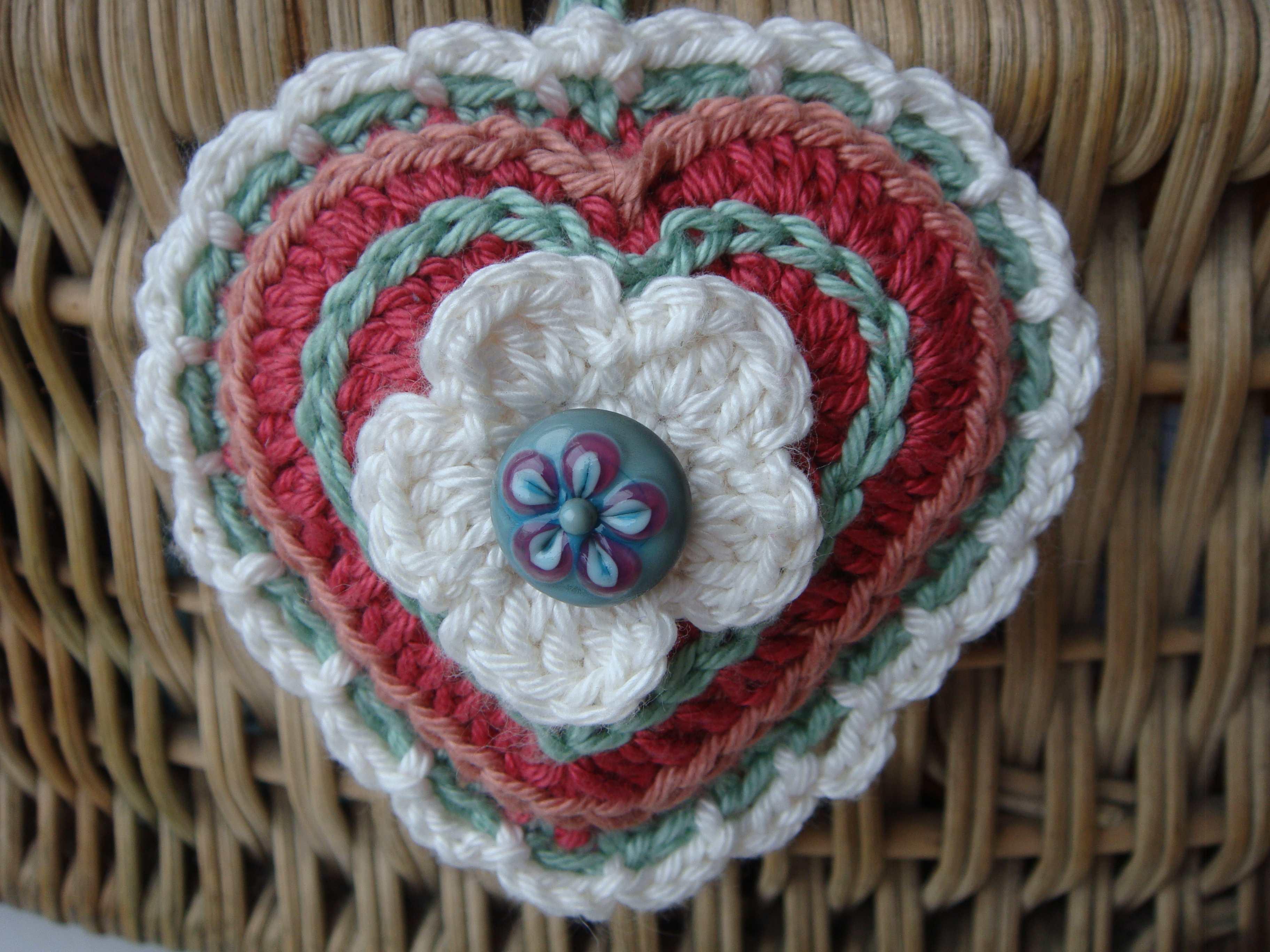 crochet fancy heart