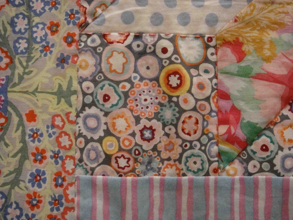 Close up of my favourite fabric on my favourite quilt!