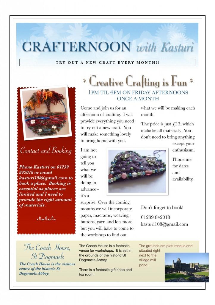 crafternoon advert