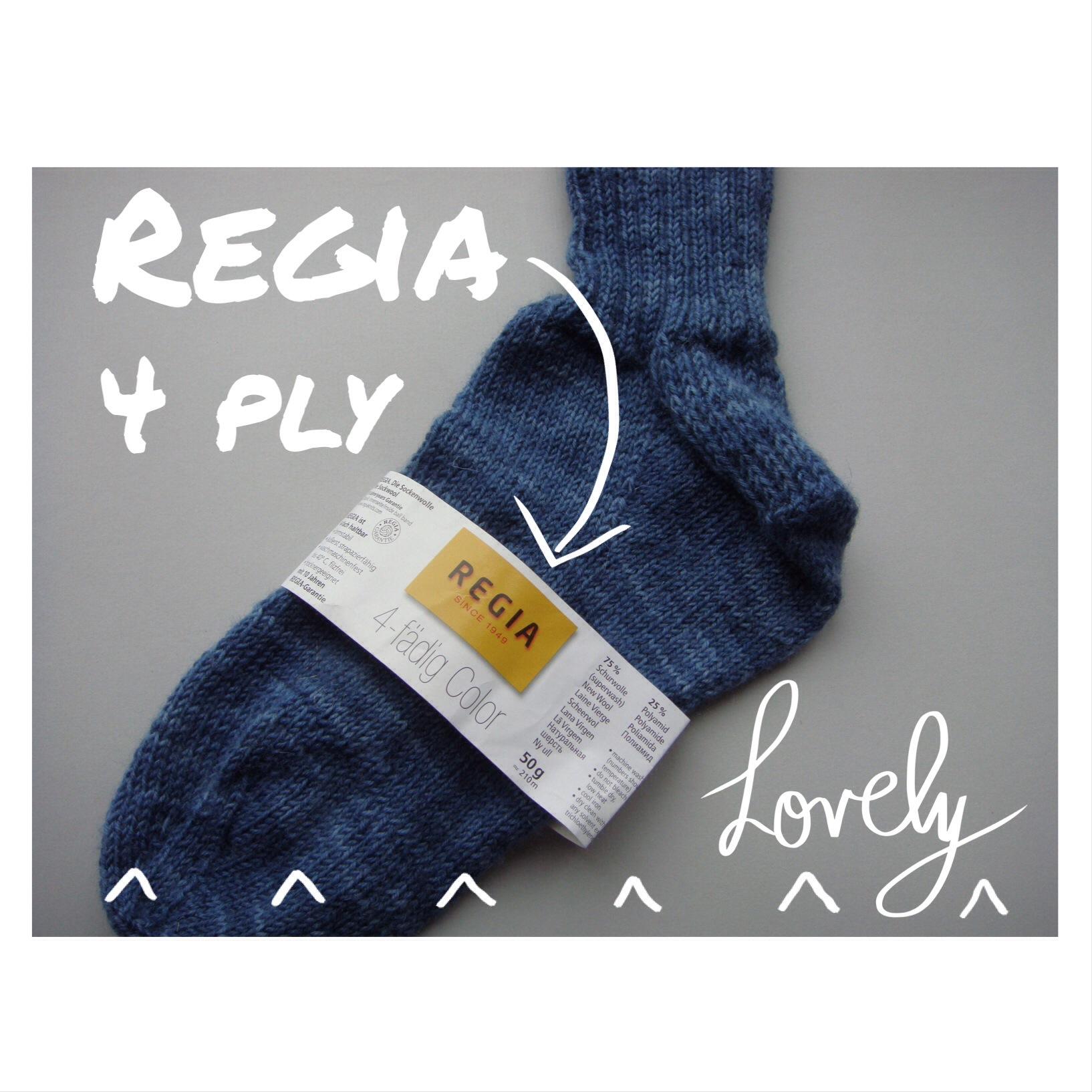 Regia 4 ply knitted socks