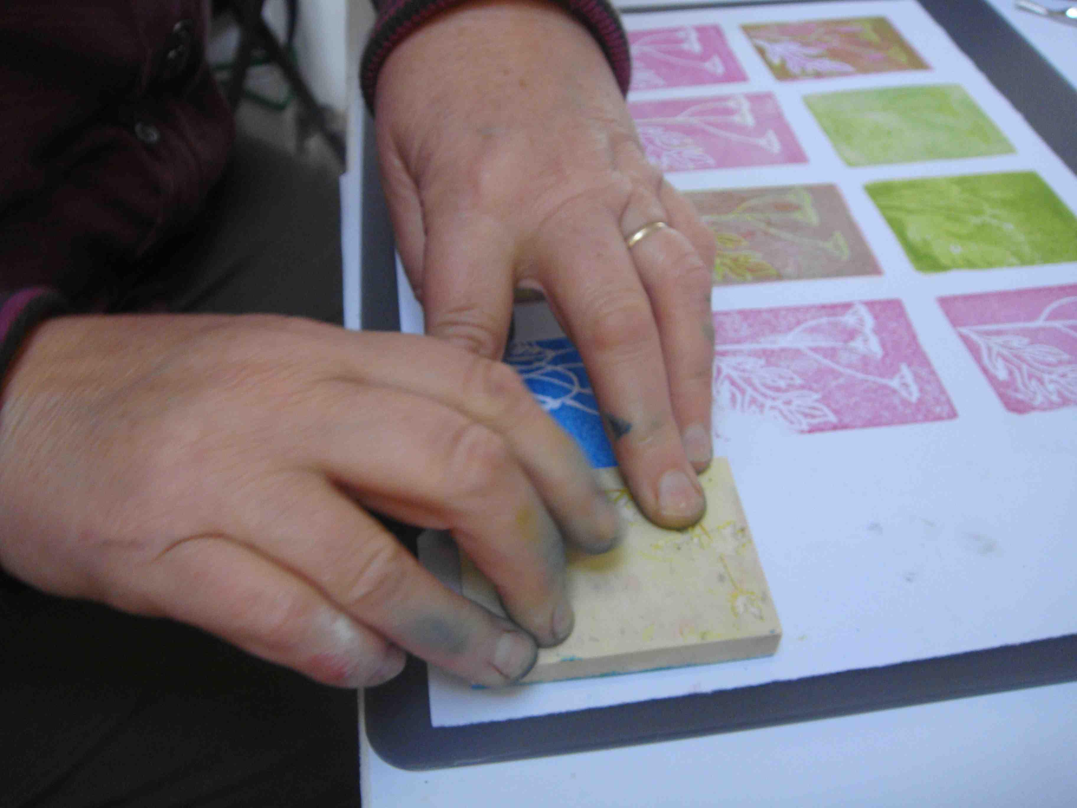 stamp hands