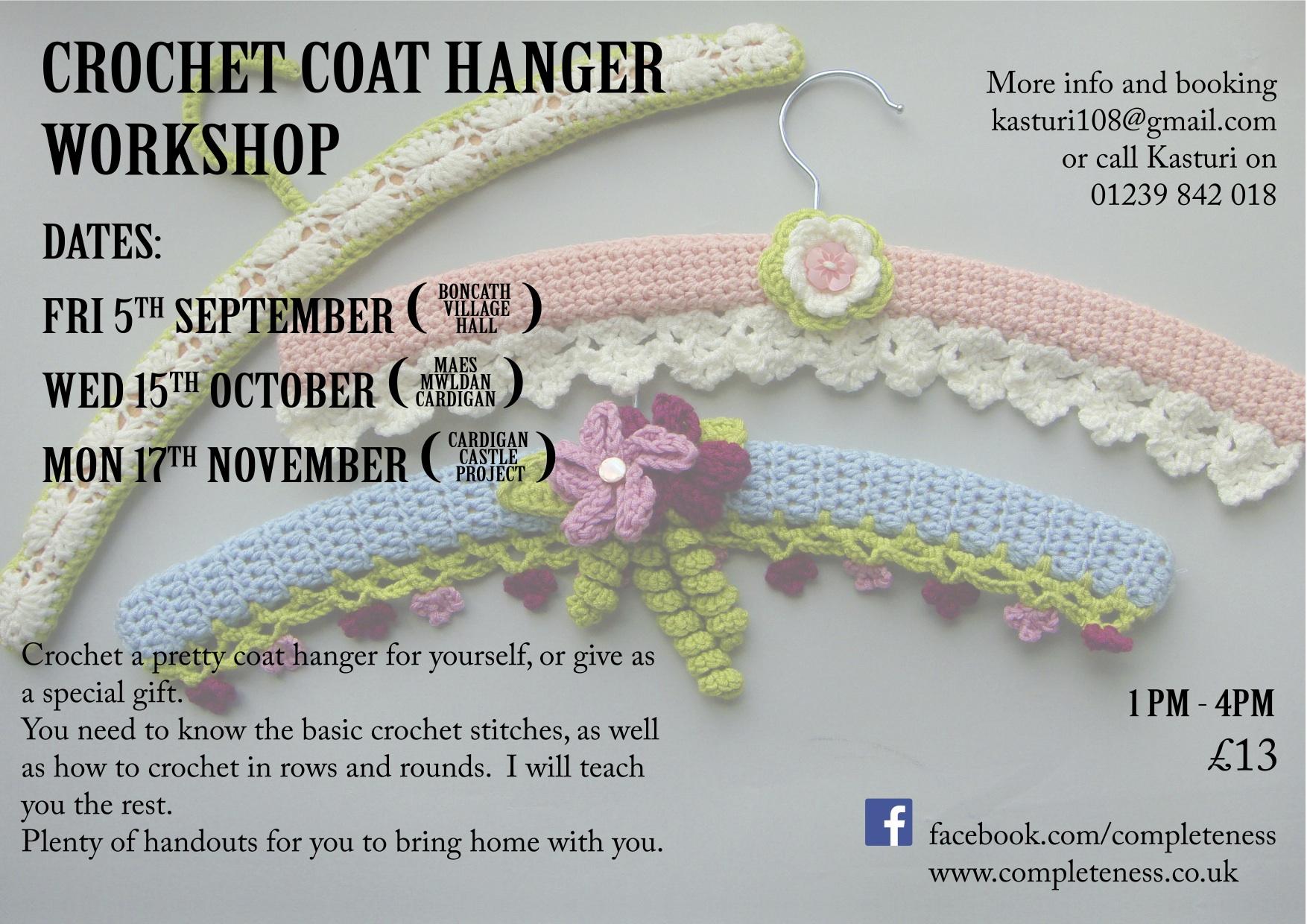crochet coat hangers