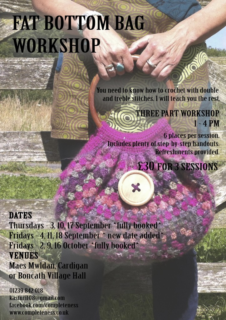 fat bottom bag workshop poster