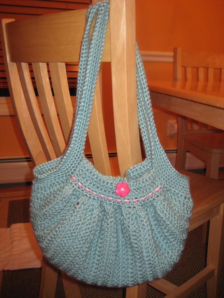 You could crochet the whole handle, like this one if you want to wear ...