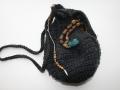 crochet winter bead bag